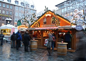 Nuremberg Germany gluehwein on Christmas