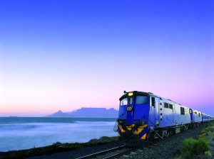Blue Train by the Table Mountain