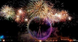 London Eye New Year Fireworks