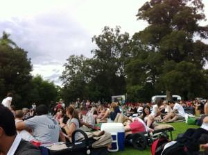 Audience at the Melbourne Botanical Garden Moon Light Cinema Screening C