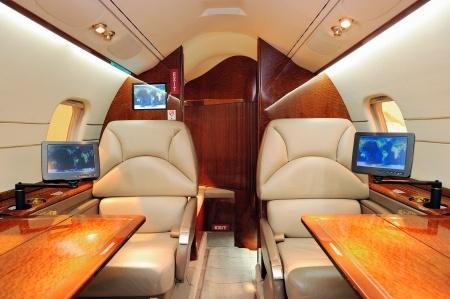 Luxury Charter Plane Interior