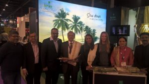 Indian Ambassador to Netherlands Shri. J.S Mukul at Kerala Stand along with Kerala delegation